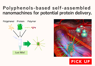 Polyphenols-based self-assembled nanomachines for potential protein delivery.