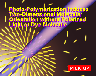 Photo-Polymerization Induces Two-Dimensional Molecular Orientation without Polarized Light or Dye Molecule